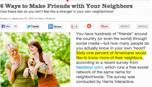 Make Friends with Your Neighbors