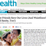 In the Media – How friends save our lives (Health Magazine)