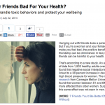 In the Media – Can friends can be bad for your health? (NextAvenue.com)