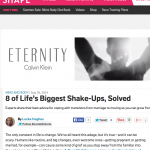 In the Media – 8 of Life's Biggest Shakeups (Shape Magazine)
