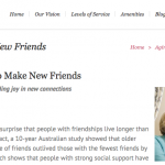 In the Media – Never too old to make friends