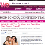 We TV – What Should You Do When You Don't Like Your Teen's Friend?