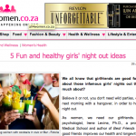 5 Fun and Healthy Girls Night Out Ideas – On AllForWomen.co.za