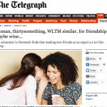 In the Media – On Making New Friends (London Telegraph)