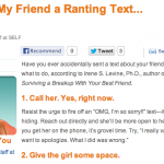 In the Media – I sent my friend a ranting text (Self Magazine)