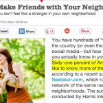 In the Media – 6 ways to make friends with your neighbors (Women's Health)