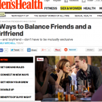 In the Media: 5 Ways to balance friends and a girlfriend (Men's Health)