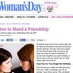 In the Media – How to Mend a Friendship (Woman's Day)