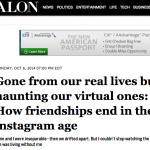 In the Media – On ending virtual friendships (Salon)