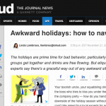 In the Media – Holidays: how to navigate awkward situations (Journal News)