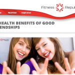 In the Media – The Health Benefits of Friendship (FitnessRepublic.com)