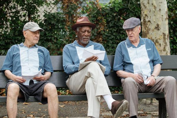 Alan Arkin, Morgan Freeman and Michael Caine (Credit: Warner Brothers)